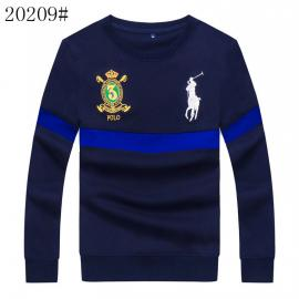 polo ralph lauren pull en coton 1967 sweater embroidered crown big pony blue
