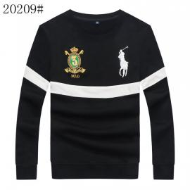 polo ralph lauren pull en coton 1967 sweater embroidered crown big pony noir