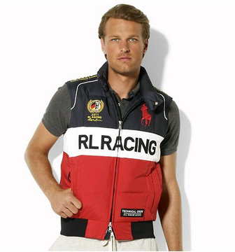 polo ralph lauren ronge noir jacket sans manches sport racing