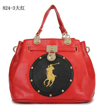 polo ralph lauren sac cuir 3rouge