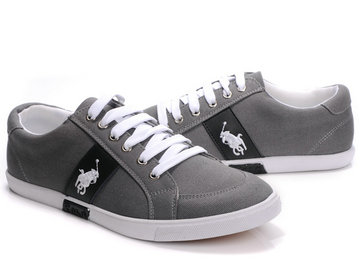 polo ralph lauren shoes gris mid blance