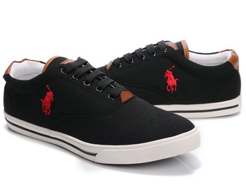 polo ralph lauren shoes noir ronge