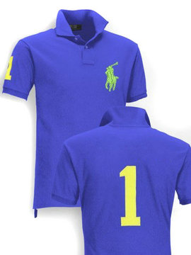 ralph lauren  t-shirt nombre big pony blue vert