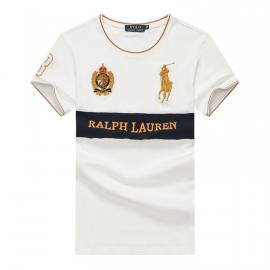 ralph lauren t-shirt col rond slim on sale big pony 8 an crown r66262 blanc
