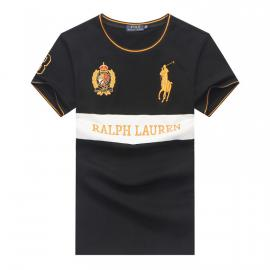 ralph lauren t-shirt col rond slim on sale big pony 8 an crown r66262 noir