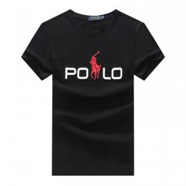 ralph lauren t-shirt col rond slim on sale big pony r388 black