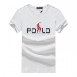 ralph lauren t-shirt col rond slim on sale big pony r388 white