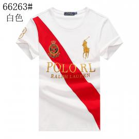 ralph lauren t-shirt col rond slim on sale big pony stripe r66263 blanc