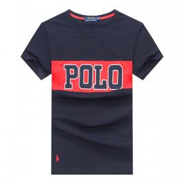 ralph lauren t-shirt col rond slim on sale big polo r259 bleu