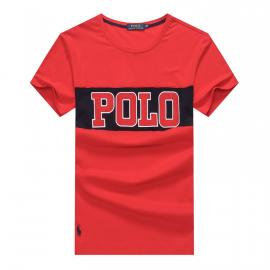 ralph lauren t-shirt col rond slim on sale big polo r259 rouge