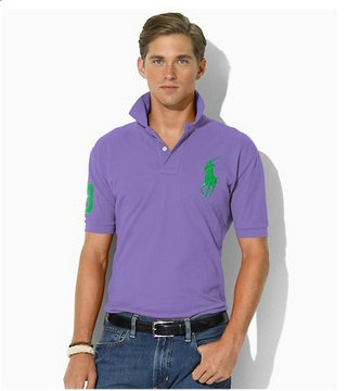 ralph lauren big pony t-shirt man new cool purple vert