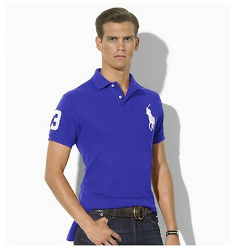 ralph lauren big pony t-shirt man new mode blue blance