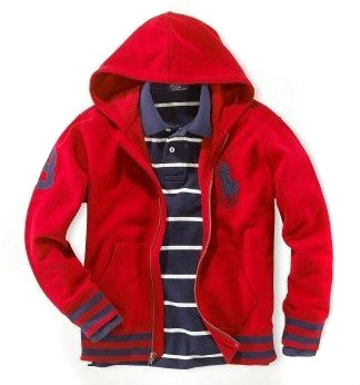 ralph lauren hoodie jacket three mode bleu red,polo ralph lauren big pony