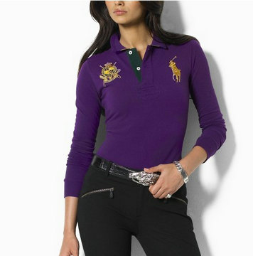ralph lauren long t-shirt women couronne purple,pas cher officiel de ralph lauren t-shirt