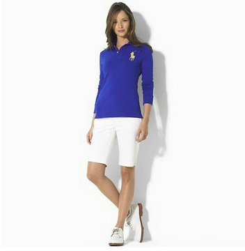 ralph lauren long t-shirt women france blue,long sleeve women ralph lauren polo chemises