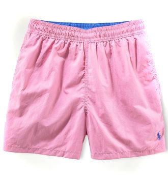 ralph lauren short de bain mode-rose blue