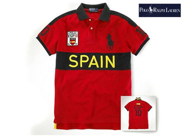 ralph lauren t-shirt coupe flag nom pays cool spain,big pony tee shirt ralph lauren style