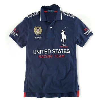 ralph lauren t-shirt rl racing united states racing team ,ralph lauren big pony tee shirt rap
