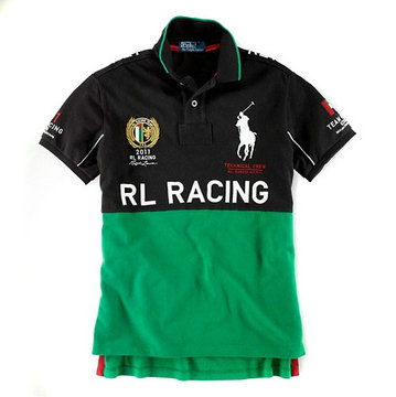 ralph lauren t-shirt rl racing black green,ralph lauren big pony t-shirt fantaisie