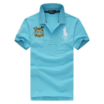 ralph lauren t-shirt rl19-67pc blue lake