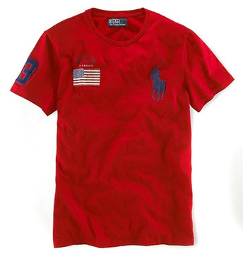 ralph lauren t-shirt usa flag etats-unis biy pony rouge