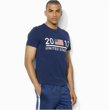 ralph lauren t-shirt london united state blue