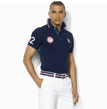 ralph lauren t-shirt man women london olympic sport nouveau blue
