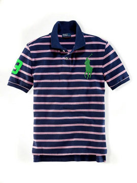 ralph lauren t-shirt mode big pony france violet vert