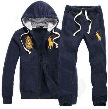 survetement ralph lauren hommes jogging blue imperial crown
