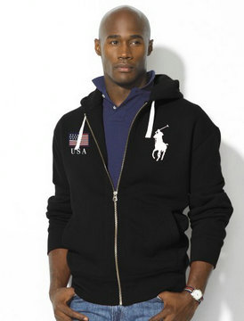 sweat capuche ralph lauren jacket usa big pony noir