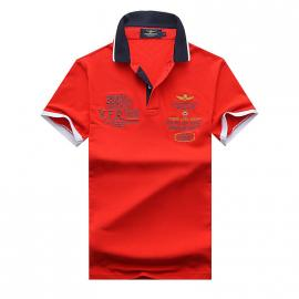 t shirt ralph lauren homme prix lapel air force an crown embroidery red
