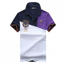 t shirt ralph lauren homme prix lapel air force cotton cotton blue purple