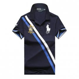 t shirt ralph lauren homme prix lapel stripe big polo blue