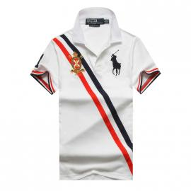 t shirt ralph lauren homme prix lapel stripe big polo white