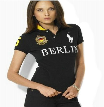 women ralph lauren sport cotton t-shirt black berlin
