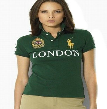 women ralph lauren sport cotton t-shirt green london