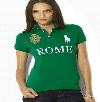women ralph lauren sport cotton t-shirt green rome