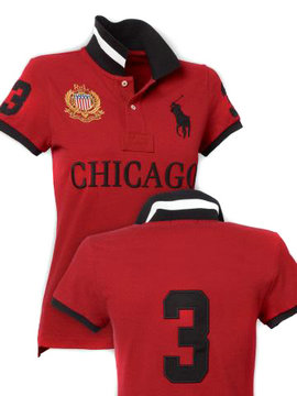 women ralph lauren sport cotton t-shirt red chicago
